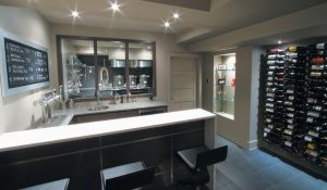 THIS PHOTO shows Kal Wallner's home bar and brew room, background, in his home in Ottawa, Canada.