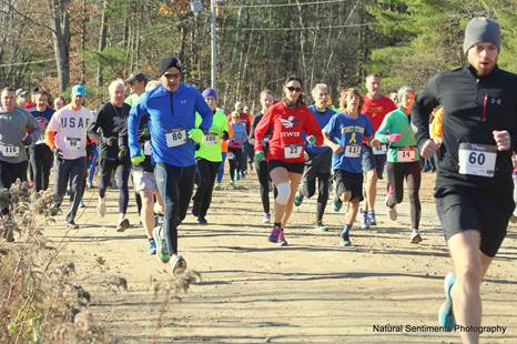 Runners take part in the 2016 Veterans Day 5K in Wells. The Wells Chamber of Commerce will be hosting its fourth annual Veterans Day 5K on Nov. 11. SUBMITTED PHOTO
