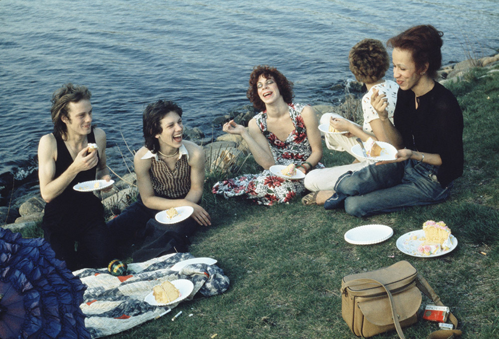 """""""Picnic on the Esplanade, Boston,"""" 1973, silver-dye bleach print, 17  by 21  inches, courtesy of the artist and Matthew Marks Gallery."""