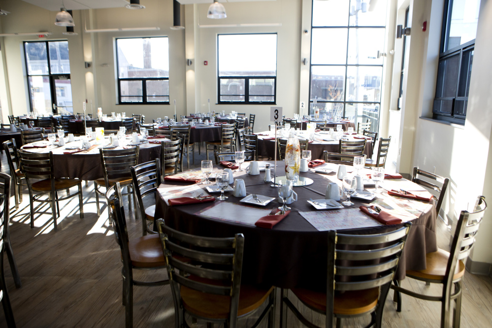 The new dining room at the Salvation Army Adult Rehabilitation Center on Preble Street in Portland will allow everyone in the program to eat together for the first time.
