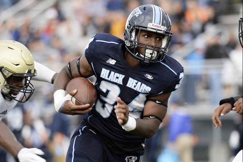 Josh Mack, a sophomore who led FCS with 1,335 rushing yards, says Maine has talent but  must better grasp the mental aspect of football, including learning how to play through adversity.