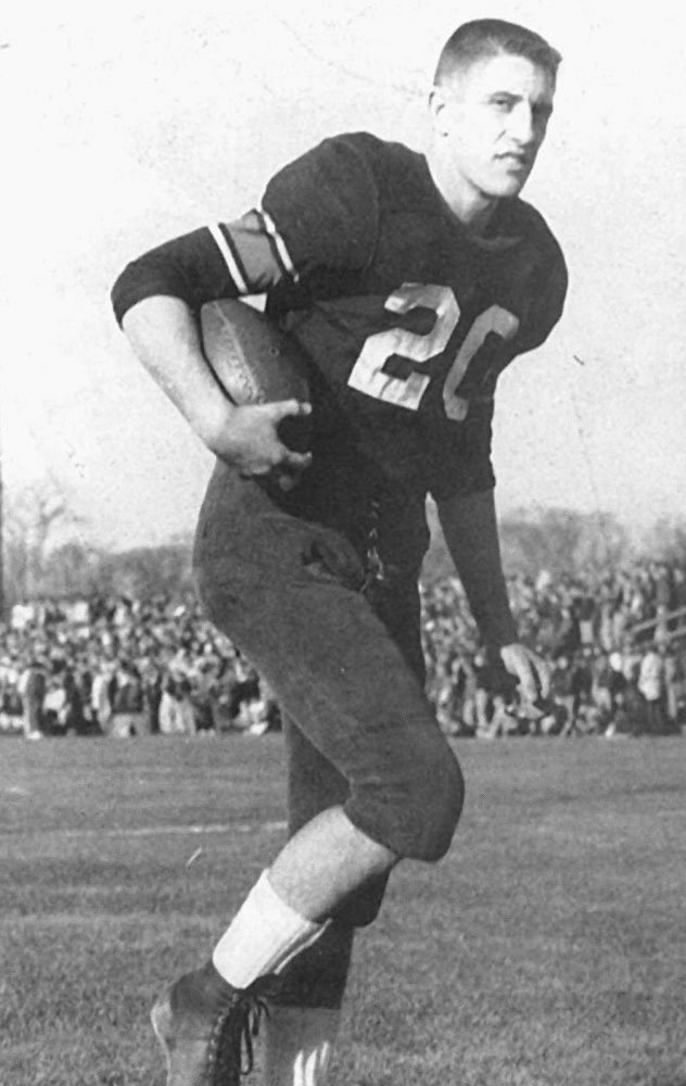 Dave Cloutier starred at Gardiner and UMaine, and played for one season – 1964 – with the Boston Patriots.