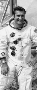 THIS PHOTO made available by NASA shows astronaut Richard Gordon Jr. Gordon, one of a dozen men who flew around the moon but didn't land there, has died, NASA announced Tuesday.