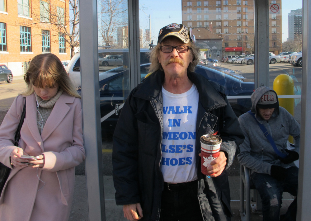 Former security guard Tim Button of Hamilton, Ontario, is participating in the province's 'basic income' program. Some 4,000 people will receive money over the three-year study.