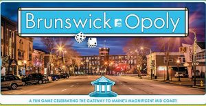 BRUNSWICK-OPOLY is available through the Brunswick Downtown Association.