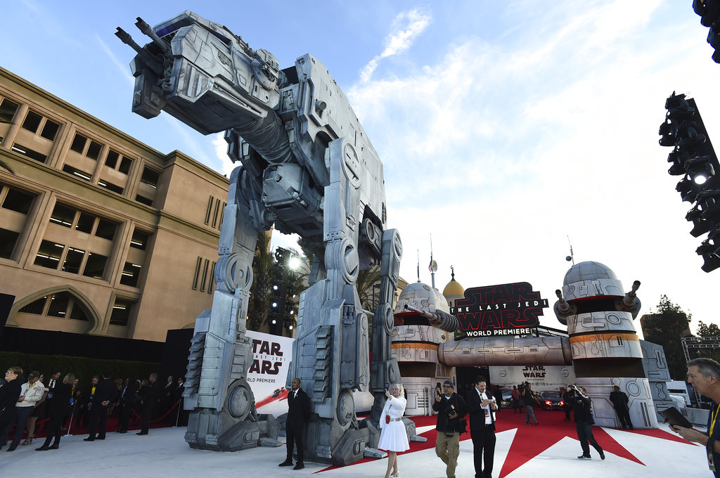 """""""Star Wars: The Last Jedi"""" debuted Saturday to a packed house in Los Angeles."""