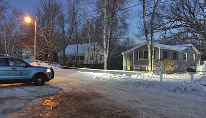 Police on the scene Dec. 20, 2017, on Massachusetts Avenue in Millinocket, where a home invasion occurred a day earlier.