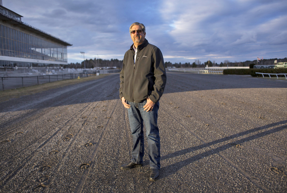 "Rocco Risbara III, a member of the locally based group that is under contract to buy the Scarborough Downs racetrack and property, said, ""We love this town dearly ... and we are committed to this project."""