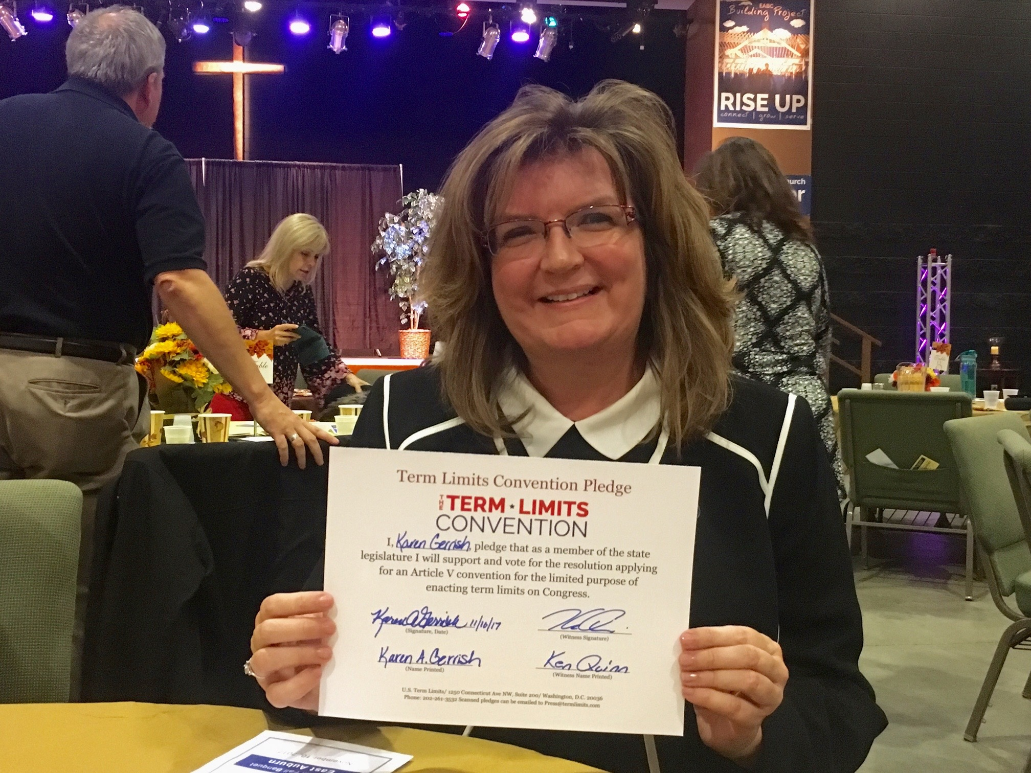 Rep. Karen Gerrish of Lebanon is among two York County state legislators supporting congressional term limits. Heidi Sampson of Alfred also supports the measure. COURTESY PHOTO