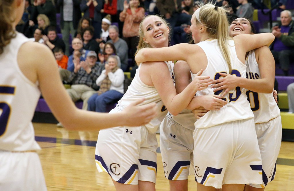 There was so much relief and so much happiness Thursday night for the Cheverus High girls' basketball team, which needed big plays to subdue Windham 56-50 in overtime and earn a spot against top-ranked Oxford Hills in the Class AA North semifinals at Cross Insurance Arena.