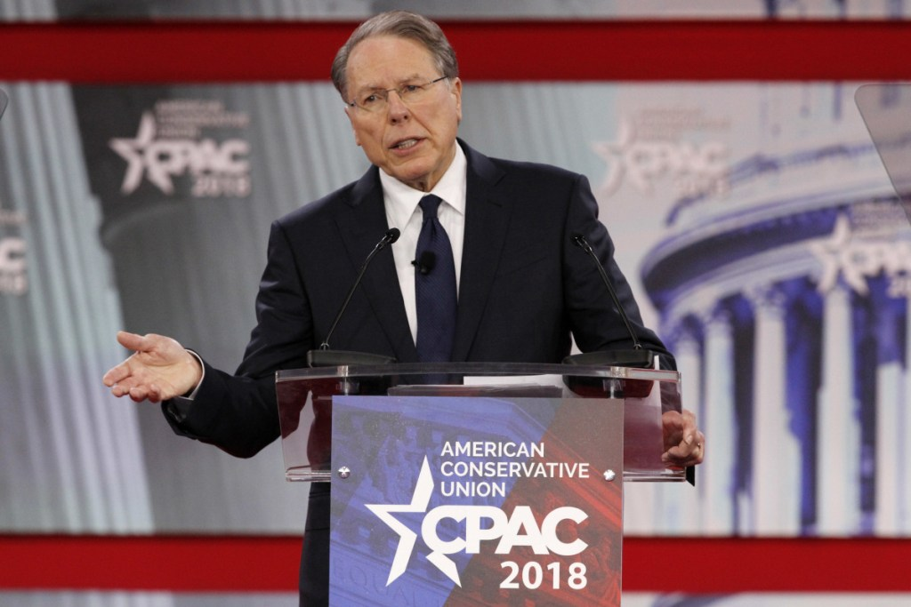 """National Rifle Association Executive Vice President and CEO Wayne LaPierre, speaking at the Conservative Political Action Conference at National Harbor, Md., last week, called for Americans to """"harden our schools"""" by posting armed guards and arming teachers."""