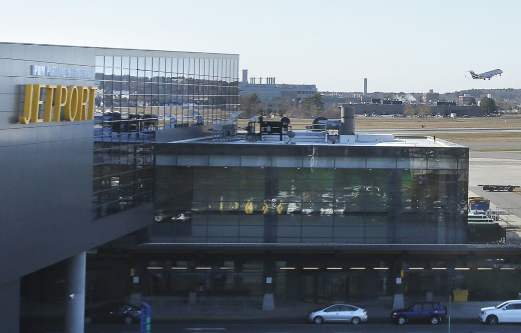 """""""We are definitely seeing a shift to Mainers coming back and using the jetport instead of driving down to Boston and Manchester,"""" says Zach Sundquist, the Portland International Jetport's assistant director."""