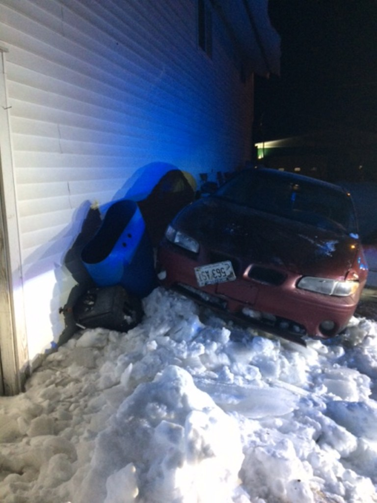 A police chase that topped 100 mph through several Somerset County towns Thursday ended when the car blew a tire and crashed into a building.