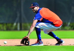 Houston Astros infielder Carlos Correa handles a grounder during spring training baseball practice Monday in West Palm Beach, Fla. AP NEWSWIRE