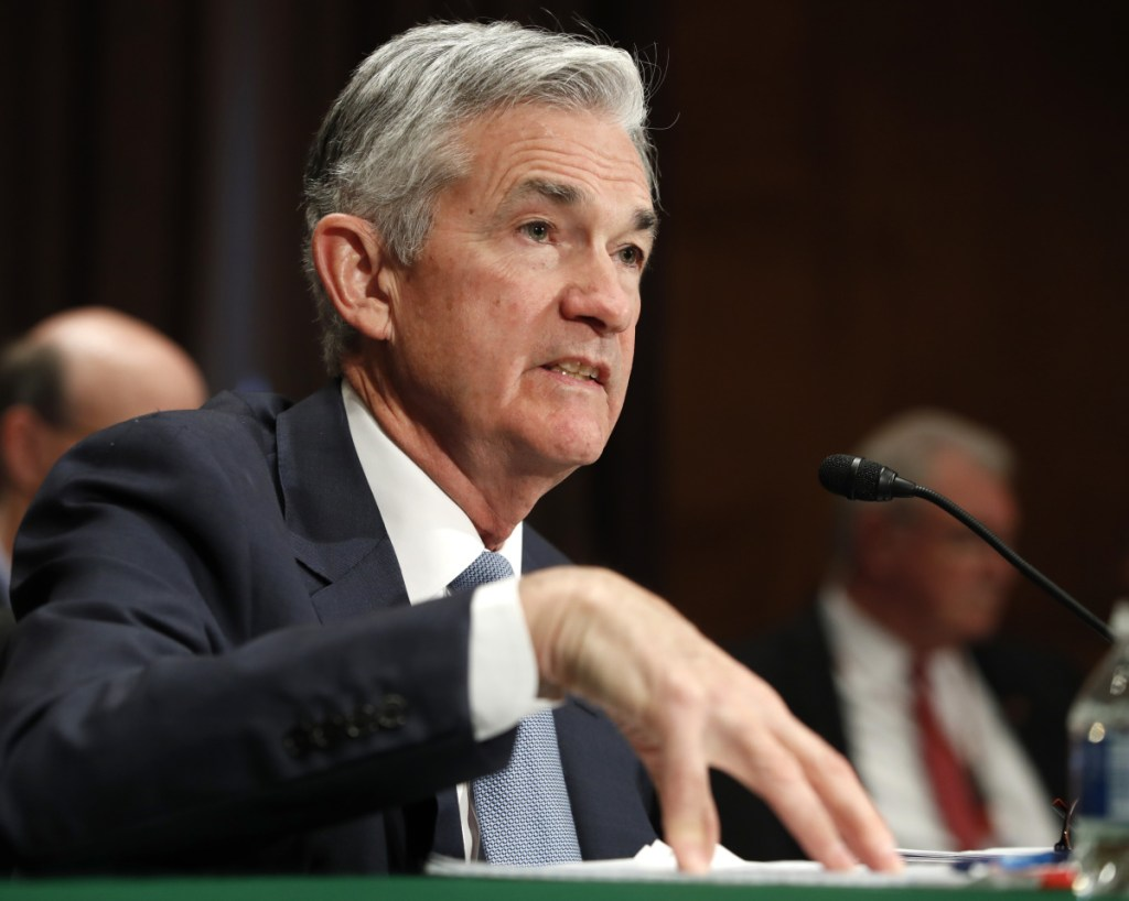 Federal Reserve Chairman Jerome Powell gives the semiannual monetary policy report to the Senate Banking Committee on Thursday.