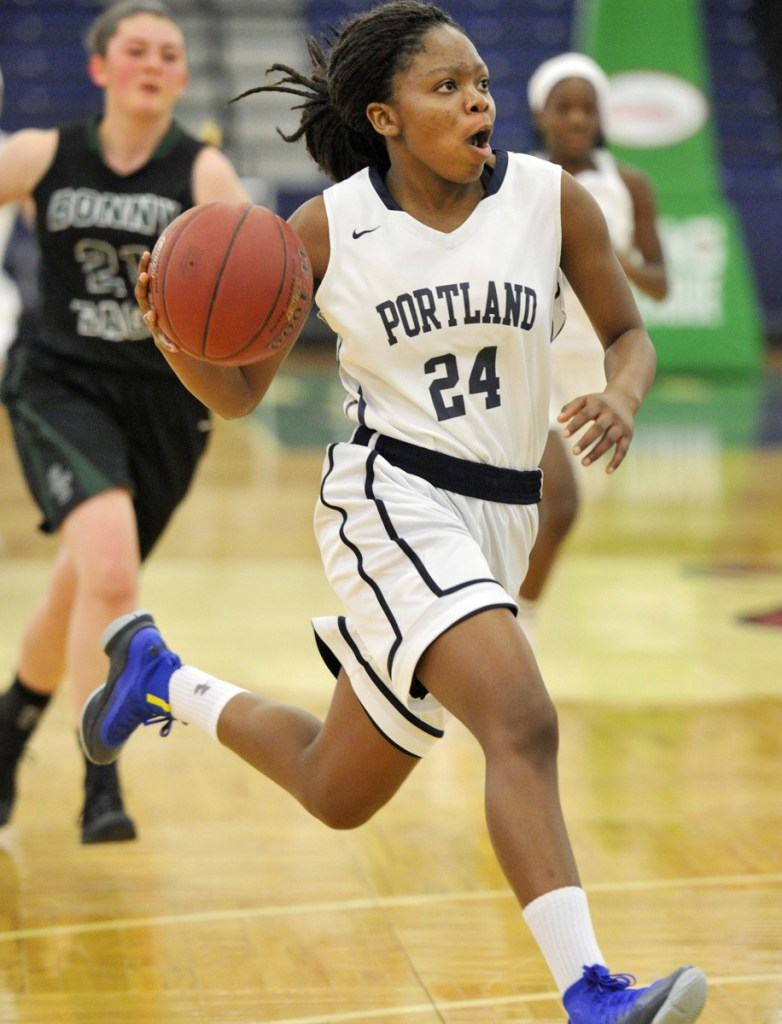 Gemima Motema's absence in the playoffs due to injury hurt Portland's chances of winning the Class AA North title, but she'll be back next season.