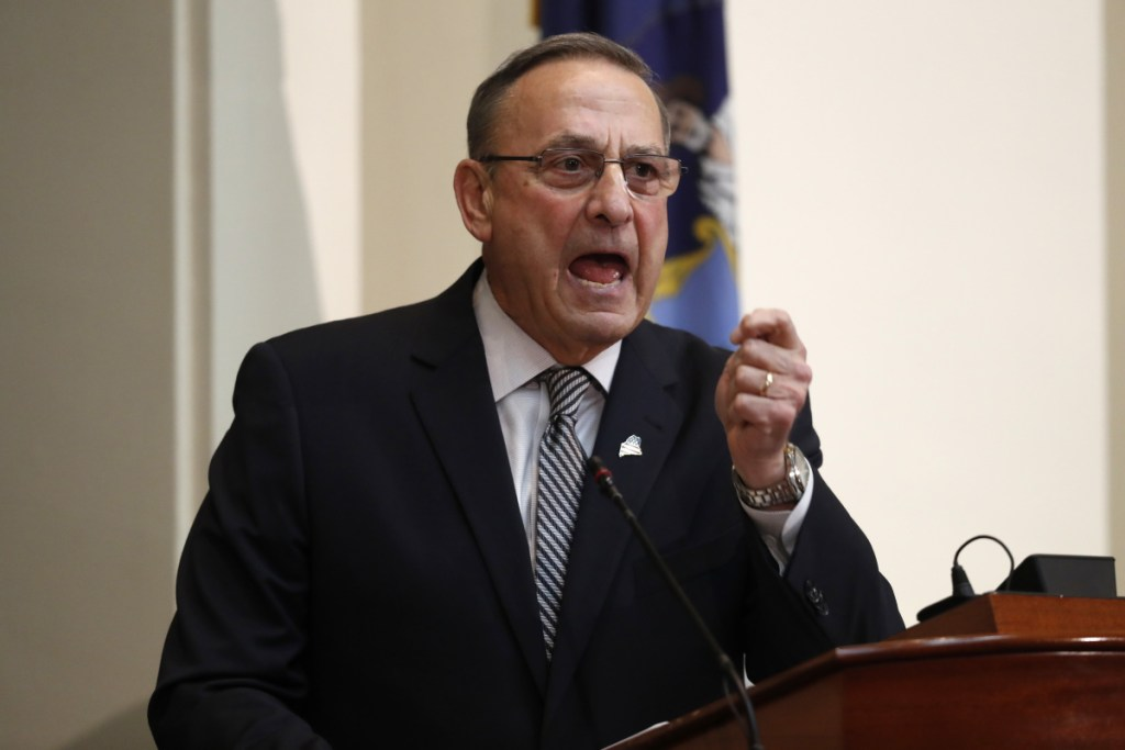 "LePage told lawmakers: ""You are making outrageous accusations demanding that members of the executive branch come before you to answer them."""