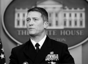WHITE HOUSE physician Dr. Ronny Jackson speaks to reporters during the daily press briefing in the Brady press briefing room at the White House in Washington in this Jan. 16 photo.