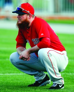 Boston Red Sox relief pitcher Craig Kimbrel (46) reports for baseball spring training, Wednesday, Feb. 14, 2018, in Fort Myers, Fla. AP NEWSWIRE