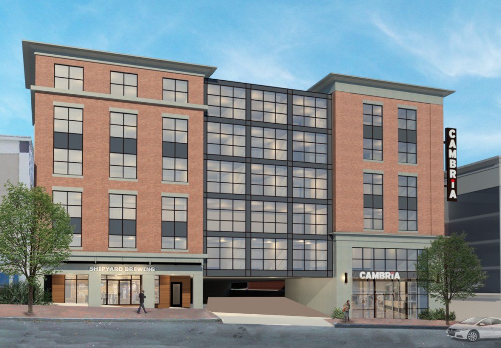 """Shipyard's proposed """"brewtel"""" would have tours of the brewery, a tasting room on the ground floor, a television station dedicated to brewing, and room service for fresh pints."""
