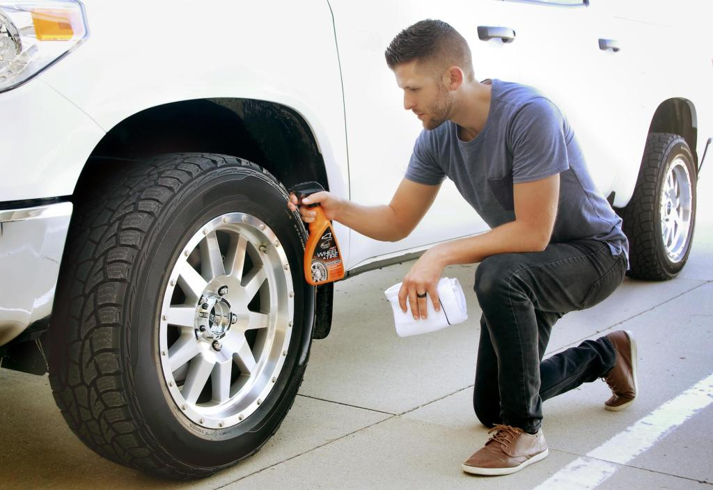 Don't forget the tires and wheels when you wash and wax.