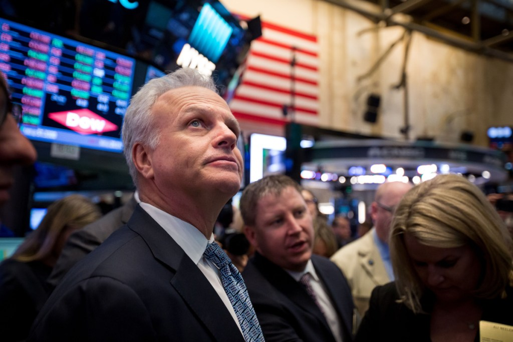 DAVID NEELEMAN Neeleman stands on the floor of the New York Stock Exchange in New York on April 11, 2017. MUST CREDIT: Bloomberg photo by Michael Nagle.