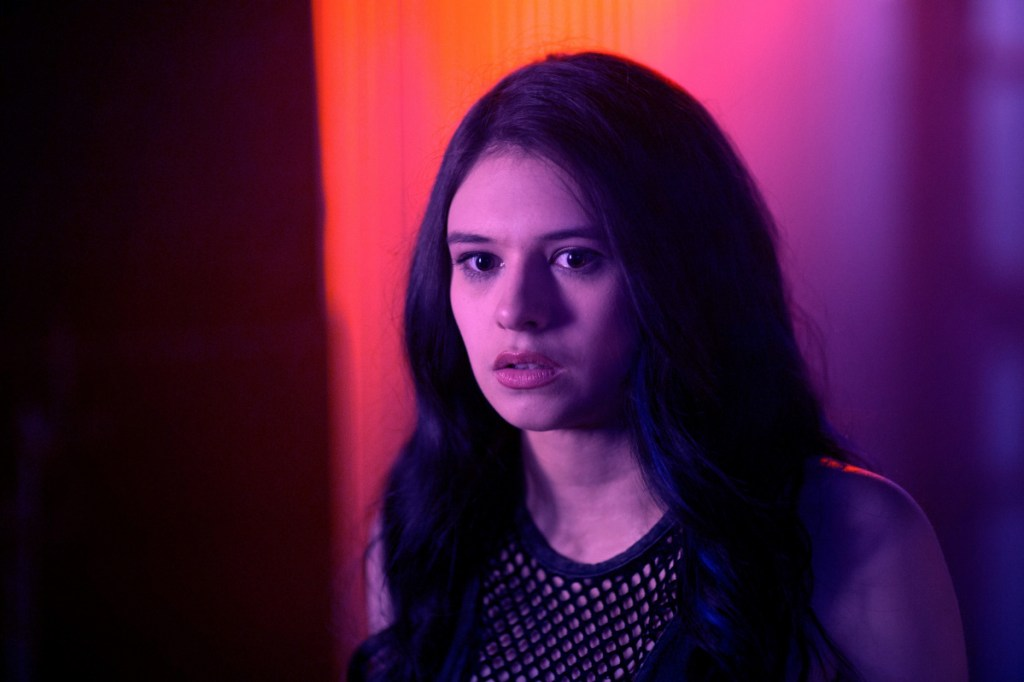 """Nicole Maines appears in the upcoming film """"Bit."""" She also has acted in other productions, and her father says she now plans to focus on acting full time."""