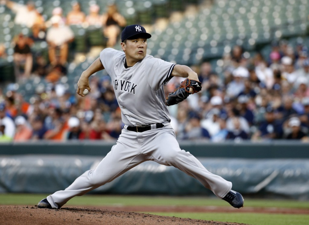 Masahiro Tanaka of the Yankees made his first start since coming off the disabled list Tuesday night and allowed three runs in 4  innings at Baltimore.