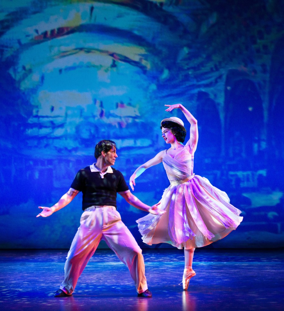 """Clyde Alves and Julie Eicher are captivating as Jerry Mulligan and Lise in """"An American in Paris."""""""