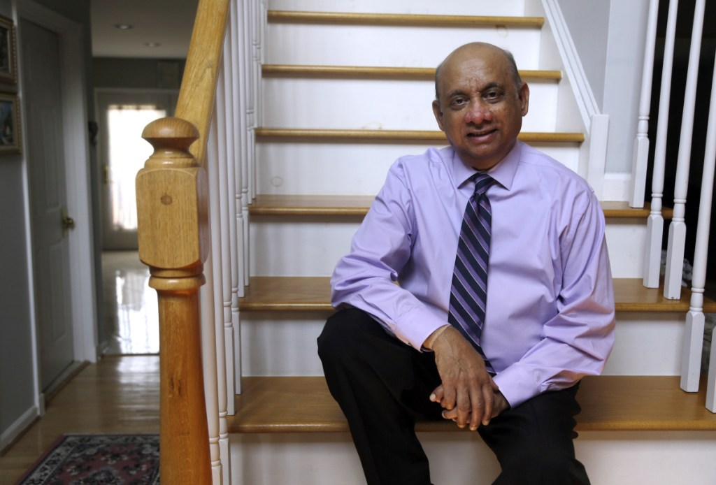Kiran Shelat, a 65-year-old retired civil engineer, poses for a portrait in his home in Yardley, Pa., on Monday. Shelat had spent two years on a kidney transplant waiting list.