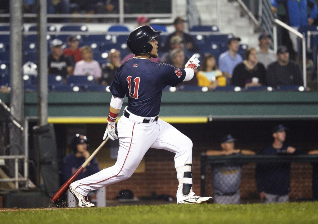 Michael Chavis, who sat out a 50-game suspension to start the season because of a positive test for steroids, is starting to swing a hot bat for the Sea Dogs. He was named Eastern League Player of the Week after hitting .560 last week with two homers and six RBI.