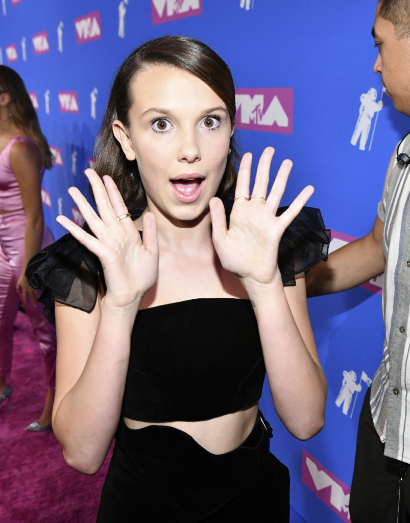 Millie Bobby Brown, 14, of 'Stranger Things,' is nominated for an Emmy.