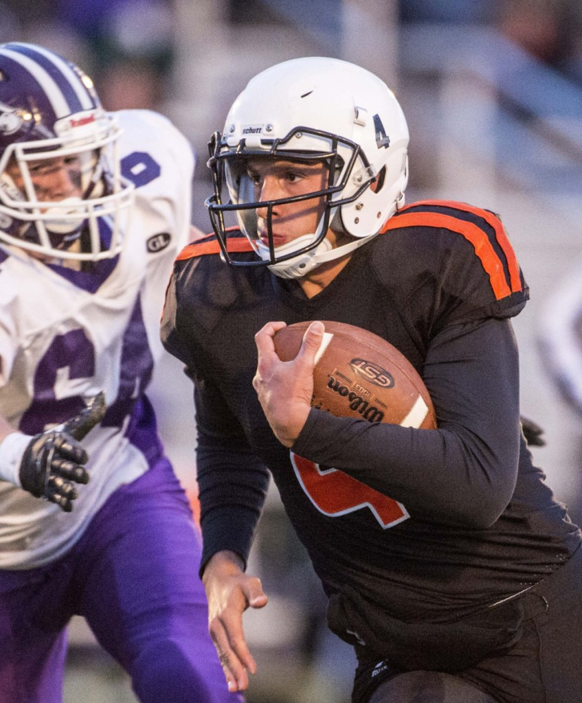 Skowhegan quarterback Marcus Christopher threw for nearly 3,100 yards last season and will be a key player as the Indians try to separate themselves from the pack in Class B North.