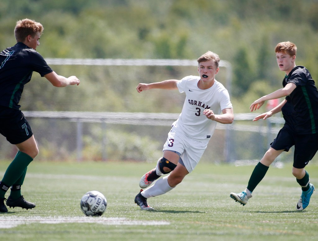 Andrew Rent of Gorham, entering his junior season, knows where teammates are on the field, which led to nine assists last season to go with six goals.