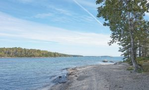 THE SHORE OF WEST GOSLING ISLAND off Brunswick, as seen in this 2016 file photo. Conserving The Goslings islands is one of Maine Coast Heritage Trust's projects. DANEEM KIM / TIMES RECORD FILE PHOTO