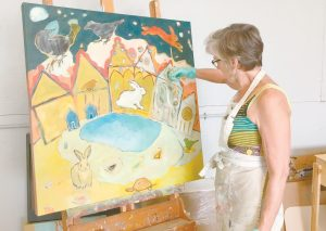ALNA ARTIST Kate Nickerson works on a piece. CONTRIBUTED PHOTO