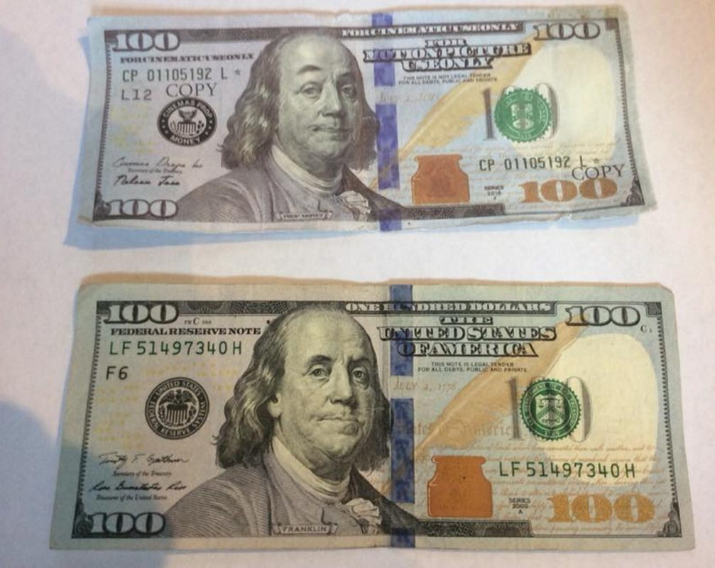 A fake $100 bill that was used by a man to buy beer Friday evening at Boynton's Market in Hallowell is under investigation by city police.