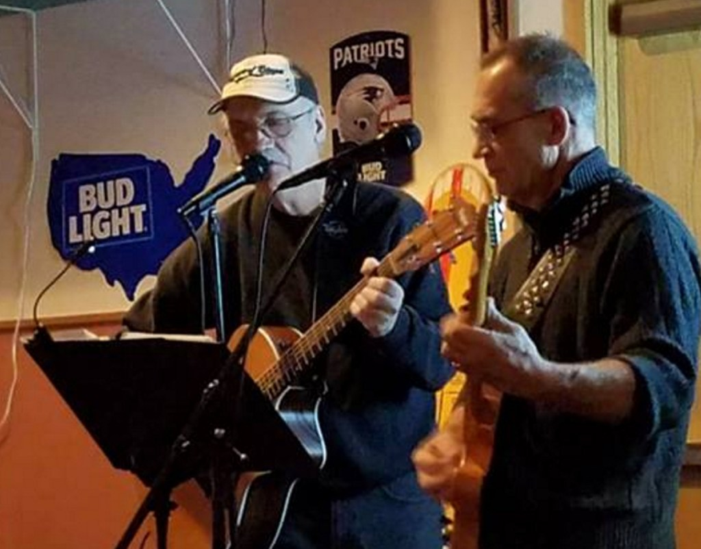 Brothers Tom Cole, left, and Eugene Cole play music at T&B's in Skowhegan. Eugene was fatally shot in Norridgewock in April.