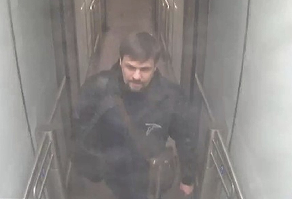 This still taken from CCTV  shows Ruslan Boshirov  on March 2.