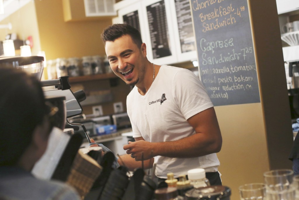 Albanian immigrant Mateo Hodo makes lattes at his Portland coffee shop, Coffee Me Up. A letter writer points out the contributions that immigrants make to Portland.