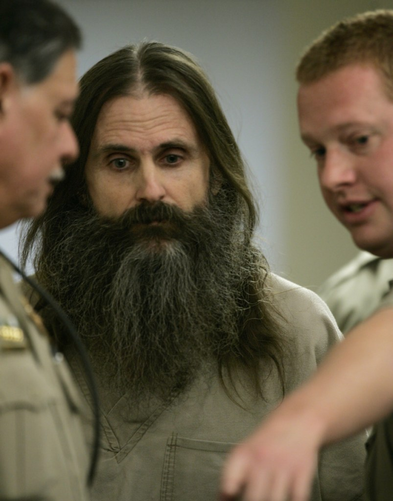 """Brian David Mitchell, whose """"visions"""" led him and Wanda Barzee to kidnap Elizabeth Smart, is seen at a court proceeding in 2005."""