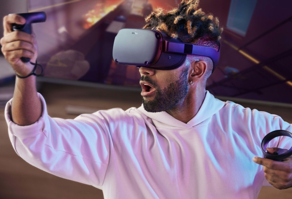 The virtual reality headset Quest is a stand-alone device that won't require a smartphone or a connection to a personal computer to create artificial worlds.