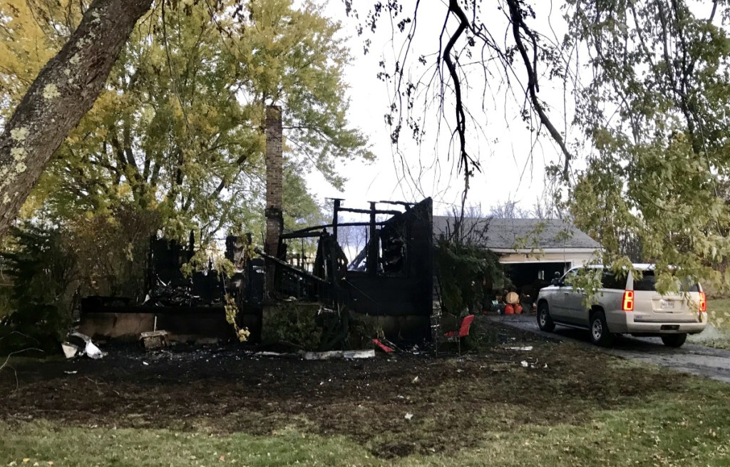 A fire destroyed a home at 16 Pleasant View Ridge Road in China early Friday morning.