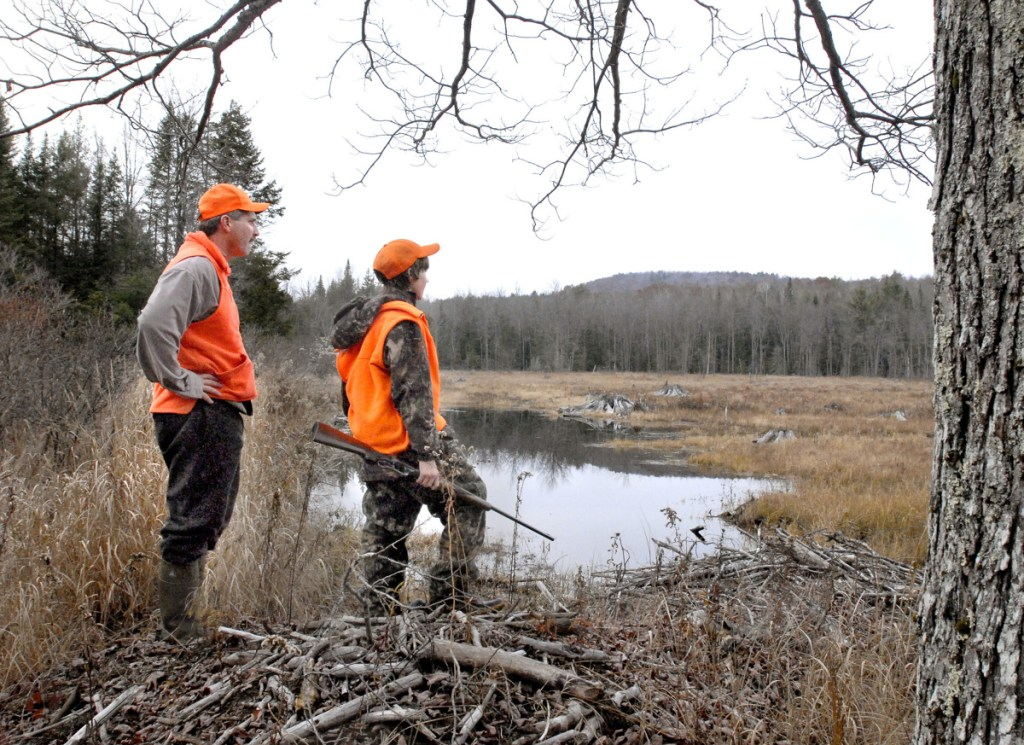 Trevor and Zach Tidd hunt moose in Casco. The nearest state to Maine with chronic wasting disease is Pennsylvania, where it was first detected in 2012.