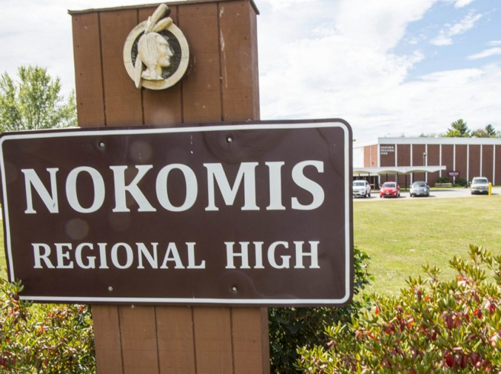 The Native American image still appears on a sign in front of Nokomis High School in Newport and on the school's gymnasium floor.