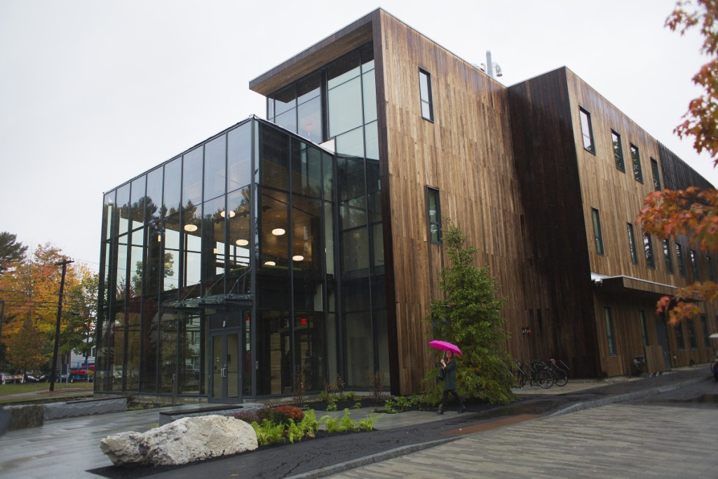 The new Roux Center for the Environment at Bowdoin College in Brunswick was built to the highest standards of the U.S. Green Building Council.