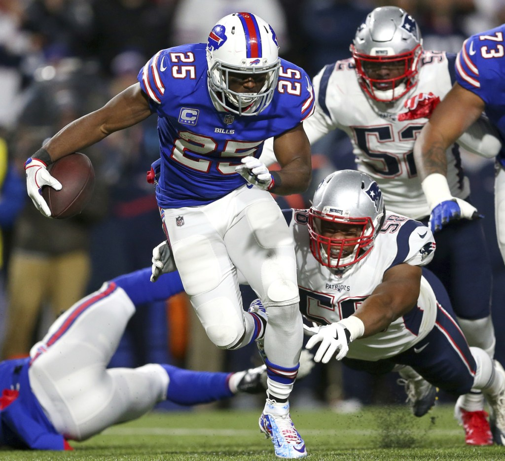 Bills running back LeSean McCoy has had dismal season, gaining just 257 yards through eight games. In the loss to the Patriots, he had 13 yards on 12 carries.