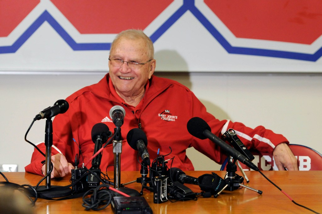 St. John's University head football coach John Gagliardi, who won more college football games than any coach, died at 91 on Sunday.