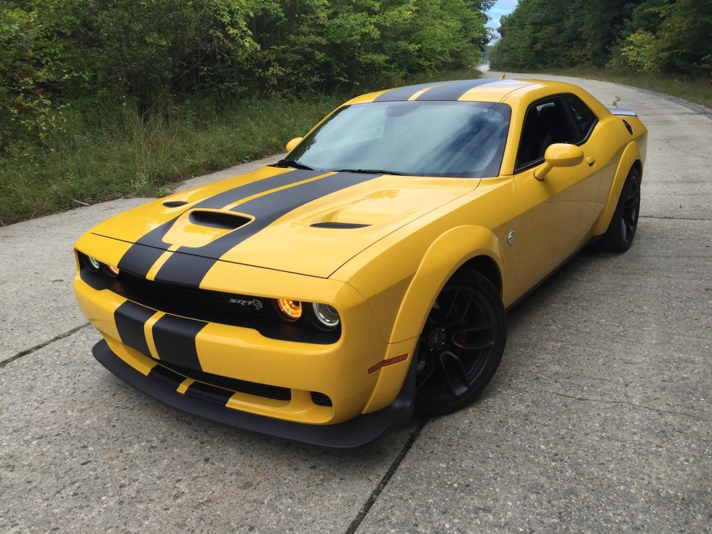 Buyers will find the Dodge Challenger SRT/Hellcat Widebody's colors a conversation-starter.