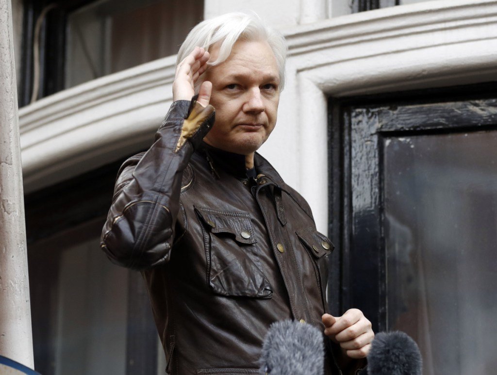 WikiLeaks founder Julian Assange, shown in 2017, has been charged under seal, a person familiar with the matter confirmed. The information has become public inadvertently because Assange's name appears twice in an August 2018 filing from a prosecutor in Virginia in a separate case involving a man accused of coercing a minor.